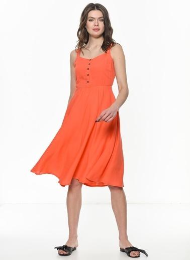 Su Moda Elbise Oranj